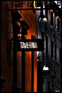 Taverne au coin d'une rue