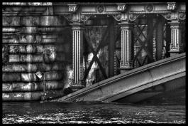 Pont d'Arcole by crue